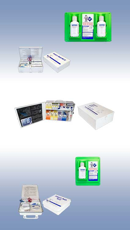 First Aid Kits and Eye Wash Systems