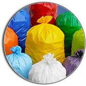 High Density Liners Low Colored Trash Bags