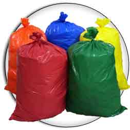 55 Gallon 36x56 20 Mil LLD Colored Trash Bags Can Liners