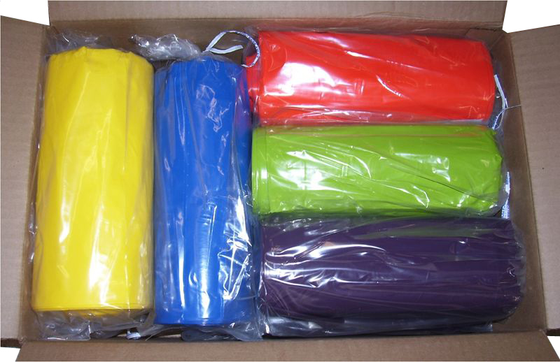 39 Gallon 33 Quot X45 Quot 1 5 Mil Lld Colored Trash Bags Can Liners Direct Disposables