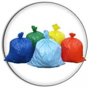 "30 Gallon 30""x36"" 2.0 mil. LLD Colored Trash Bags Can Liners"