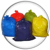 "39 Gallon 33""x45"" 1.5 mil. LLD Colored Trash Bags Can Liners"