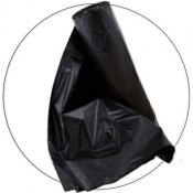 60 Gallon 38x60 Black HDPE Can Liner