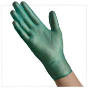 Green Heavyweight Powdered Vinyl Gloves