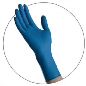 Latex Blue High Risk Powder Free Exam Gloves