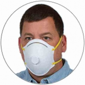 N95 NIOSH Respirator Face Mask with Exhalation Valve